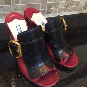 Prada Kiltie sandals